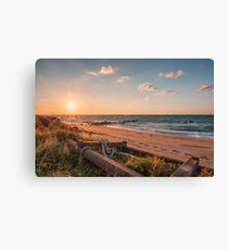 Point of view from the beach Canvas Print
