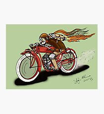 INDIAN MOTORCYCLE STEAMPUNK STYLE Photographic Print