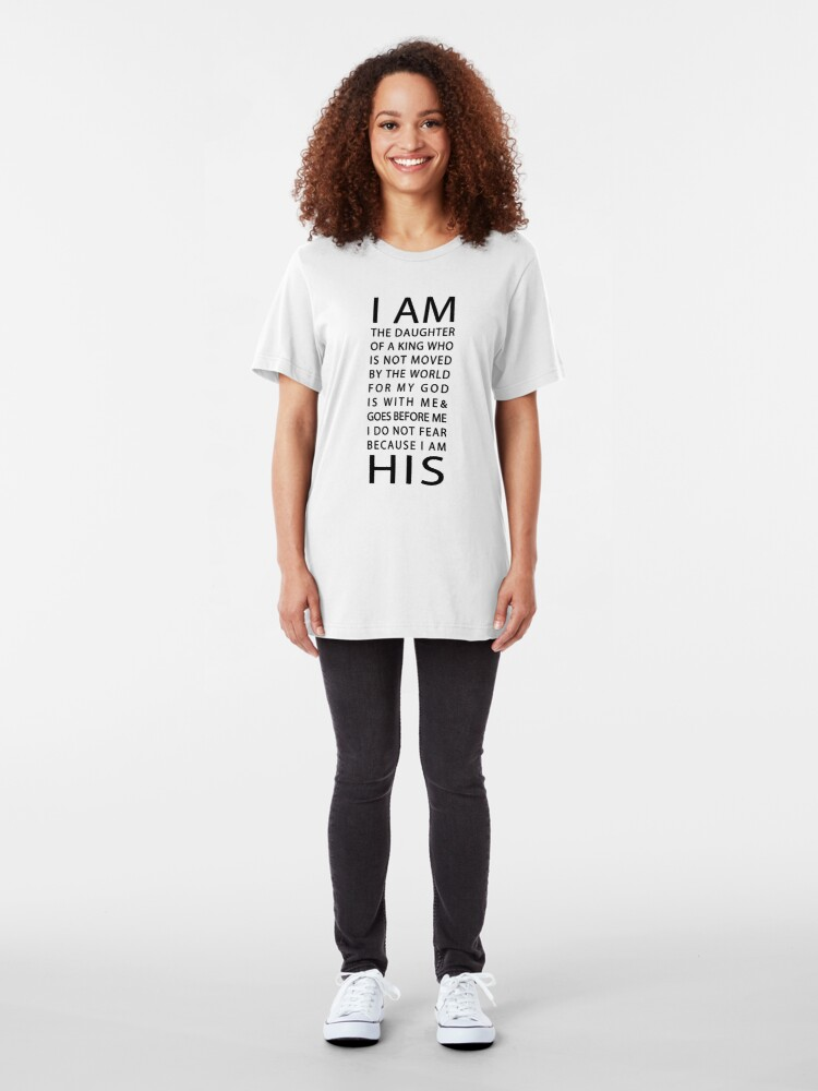 Alternate view of Christian Quote Slim Fit T-Shirt
