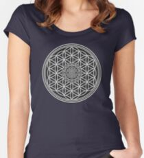 Sri Yantra and the Flower of Life Women's Fitted Scoop T-Shirt