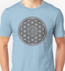 Sri Yantra and the Flower of Life Unisex T-Shirt