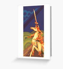 Sword Unicorn Greeting Card