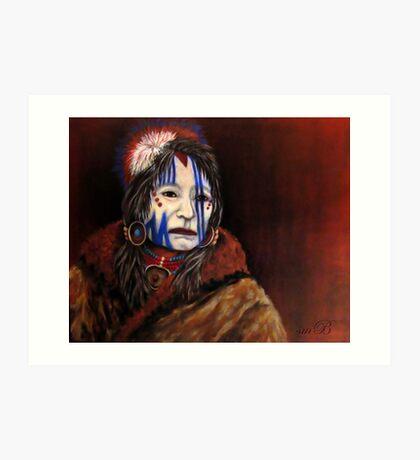 Mourning Mask #3 Art Print