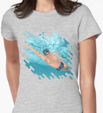 Super Swimmer Women's Fitted T-Shirt