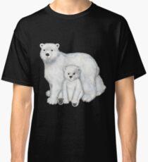 Polar Bear Mom and Cub Classic T-Shirt