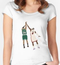 Paul Pierce Clutch Shot Over LeBron Women's Fitted Scoop T-Shirt