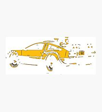 Back to the future Delorean Mustard | Cars | Cult movie Photographic Print