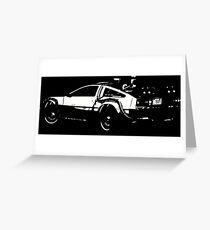 Back to the Future Delorean | Cars | Cult Movies Greeting Card