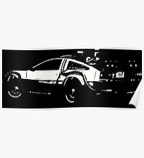 Back to the Future Delorean | Cars | Cult Movies Poster