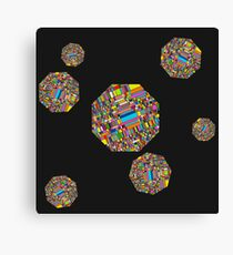 Pixelated Octagons Canvas Print