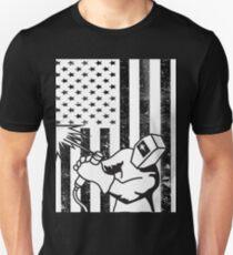 Welder American Flag Shirt  Unisex T-Shirt