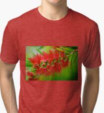 Scarlet Bottlebrush - Callistemon Tri-blend T-Shirt