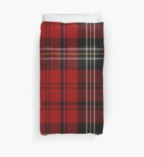 MacPherson Red Cluny Clan/Family Tartan Duvet Cover