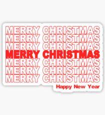 Merry Christmas Retro Holiday Sticker