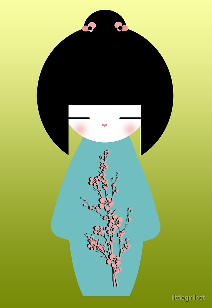 Kokeshi Greeting by littlegirllost