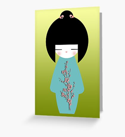 Kokeshi Greeting Greeting Card