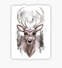 Deer Portrait. Woodland Series Sticker