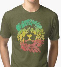 Rasta Lion – Red / Gold / Green Tri-blend T-Shirt