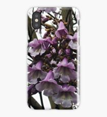 """ My Neighbours Garden, A Foxglove Tree."" iPhone Case/Skin"