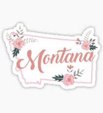 Montana Floral State Sticker