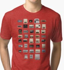 Pixel History of Home Computers Tri-blend T-Shirt