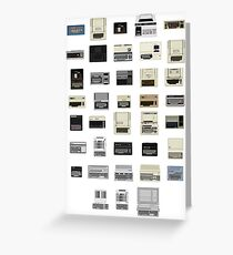 Pixel History of Home Computers Greeting Card