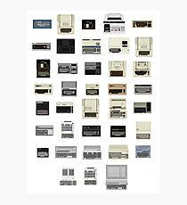 Pixel History of Home Computers Photographic Print