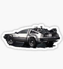 Back to the future Delorean   Cars   Cult Movies Sticker