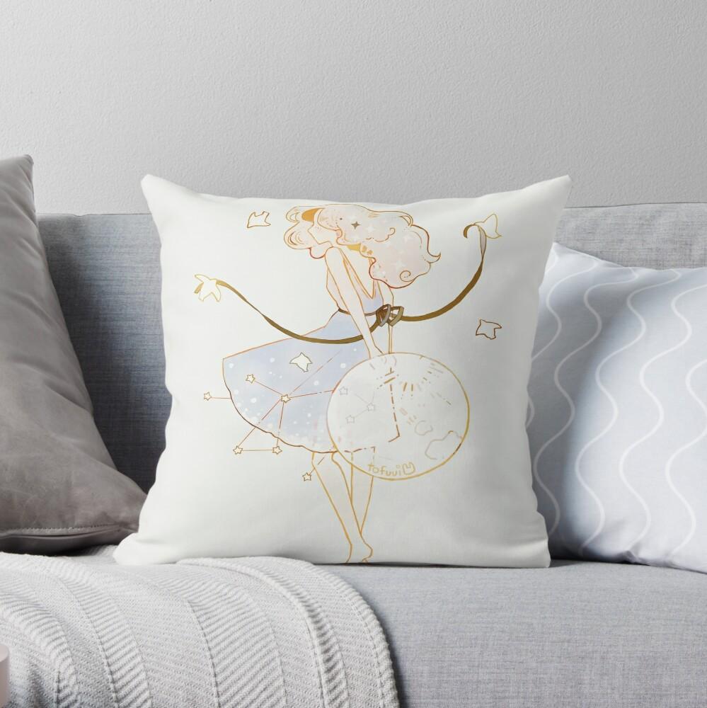 spring moon. Throw Pillow