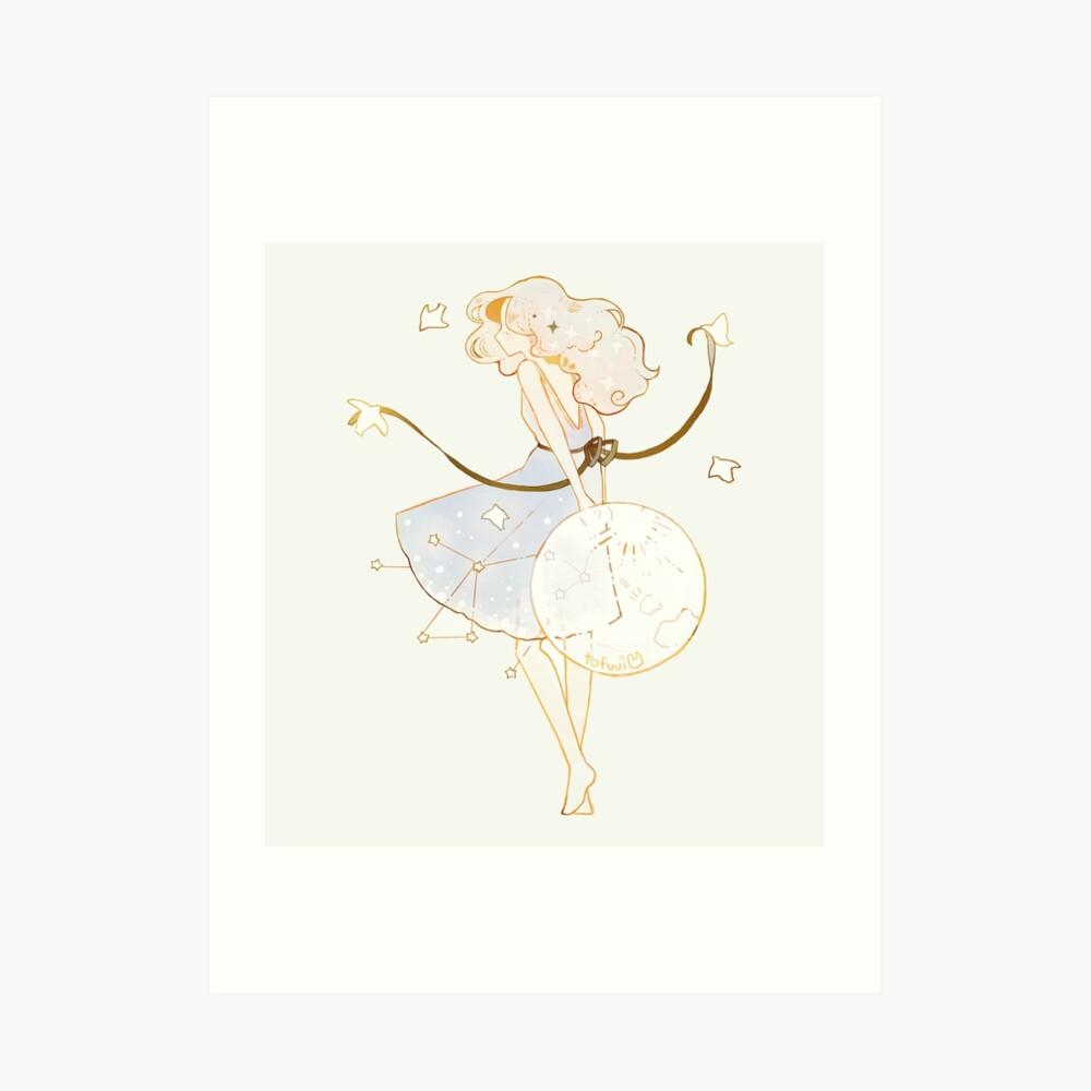 spring moon. Art Print