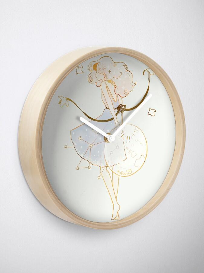 Alternate view of spring moon. Clock