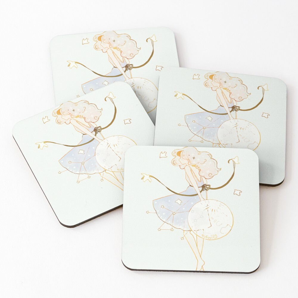 spring moon. Coasters (Set of 4)