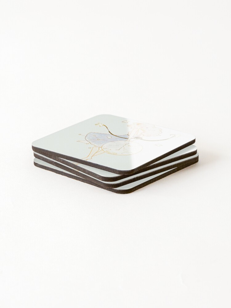 Alternate view of spring moon. Coasters (Set of 4)