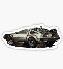 Back to the future Delorean Brown   Car   Cult Movie Sticker