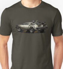 Back to the future Delorean Brown | Car | Cult Movie T-Shirt