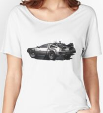 Back to the future Delorean | Cars | Cult Movies Women's Relaxed Fit T-Shirt