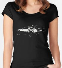 Back to the Future Delorean | Cars | Cult Movies Women's Fitted Scoop T-Shirt