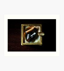 Ashtray with cigarettes stubs Art Print