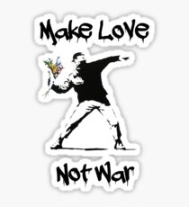 Make Love, Not War Sticker