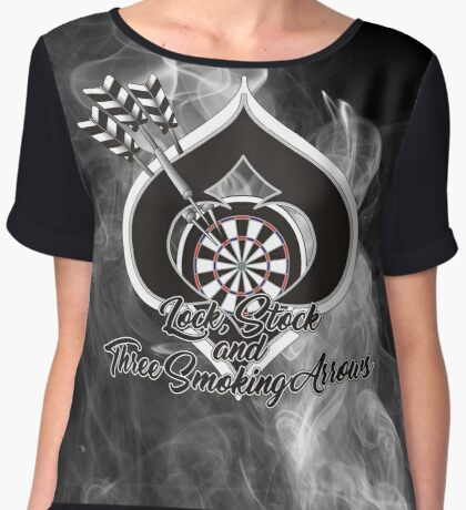 Lock, Stock and Three Smoking Arrows Darts Shirt Women's Chiffon Top