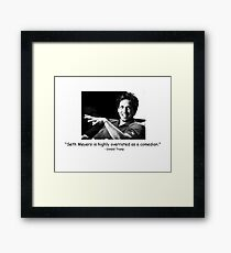 seth meyers, the overrated comedian Framed Print