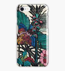 "Margaret Preston Australian Woodcut ""Bird Of Paradise"" iPhone Case/Skin"