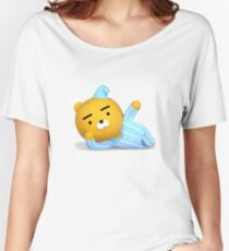 KakaoTalk Friends Hello! Ryan (카카오톡 라이언) 3D Good Night Women's Relaxed Fit T-Shirt