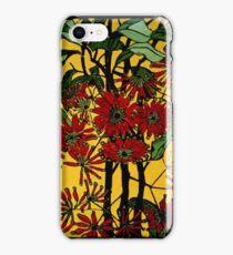 "Margaret Preston Australian Woodcut ""Wheel Flower"" iPhone Case/Skin"