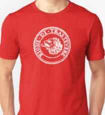 Next Stop Rione Trastevere White Text T-Shirt