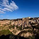 Sorano in early evening, Maremma, Grosseto, Tuscany, Italy by Andrew Jones
