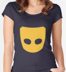 Grindr logo Women's Fitted Scoop T-Shirt