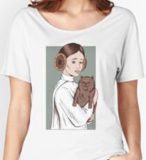 Cat and lady Women's Relaxed Fit T-Shirt