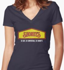 Shoney's (Clean) Women's Fitted V-Neck T-Shirt