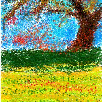 wind swept field by jakemurray